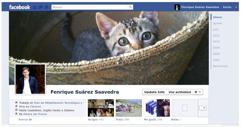 Activar el nuevo perfil en Facebook (Timeline)