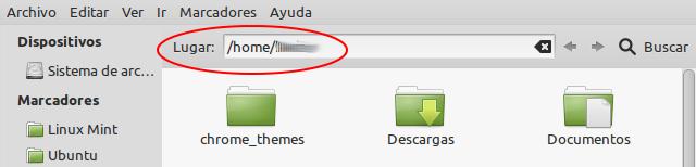 Mostrar los elementos de navegación del Nautilus en Ubuntu 12.04