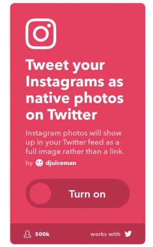 "Publicar imágenes de Instagram en Twitter de forma ""nativa"""