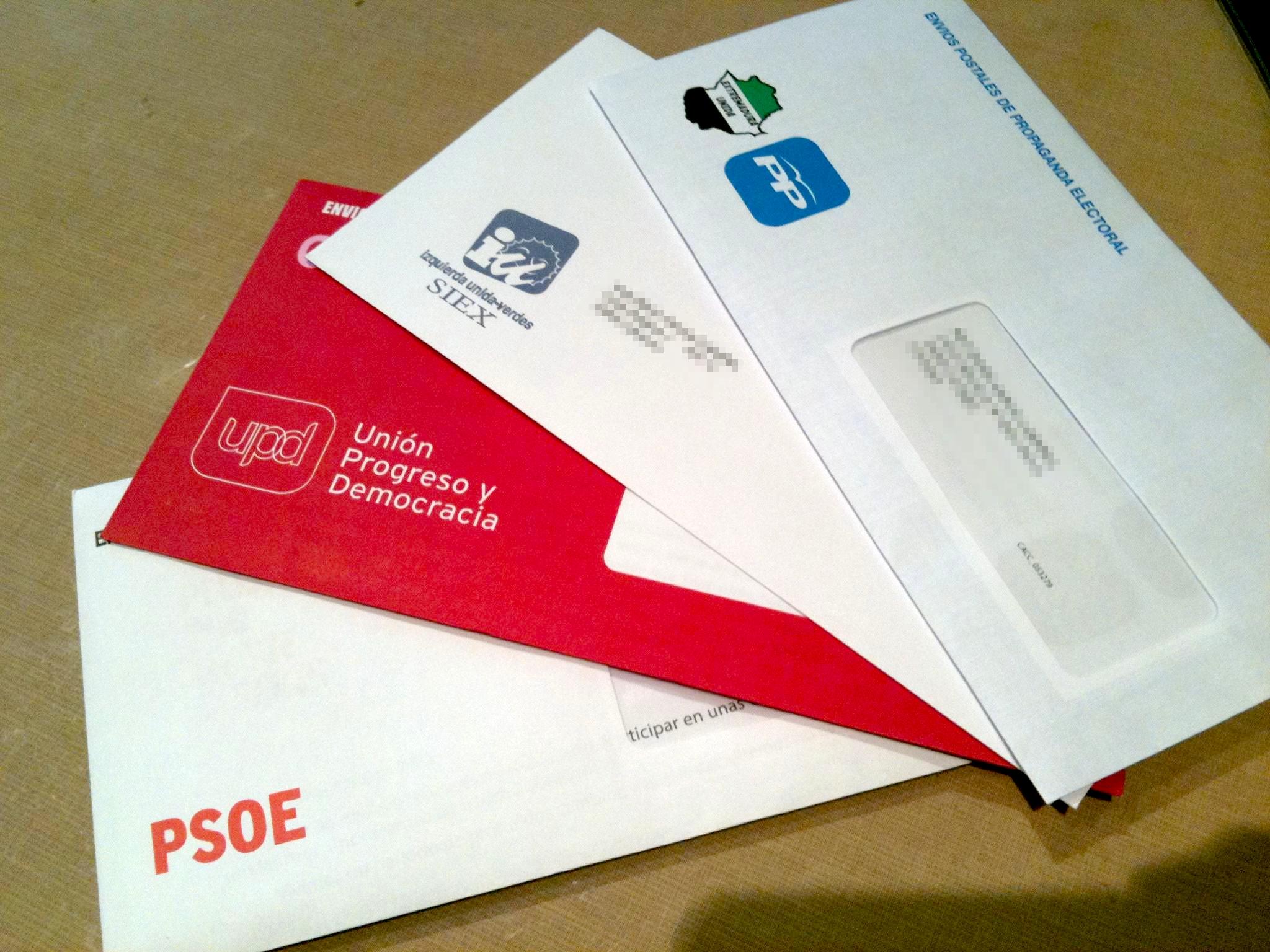 Envíos postales de propaganda electoral