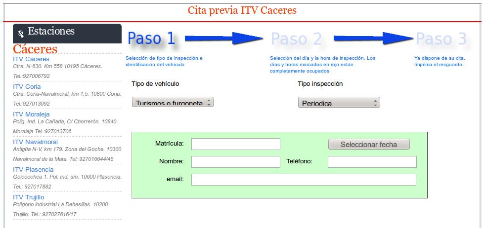 Cómo pedir la cita previa para pasar la ITV en Extremadura